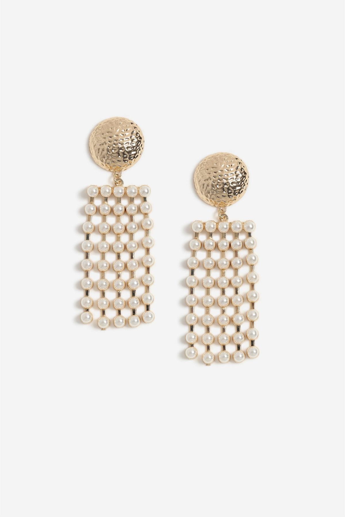 Pearl Mobile Drop Earrings