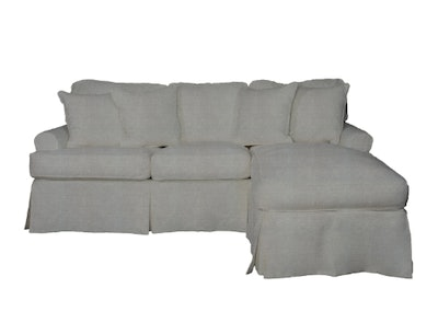 Sunset Trading Horizon T-Cushion Sectional Sofa with Chaise Slipcover| Performance Fabric