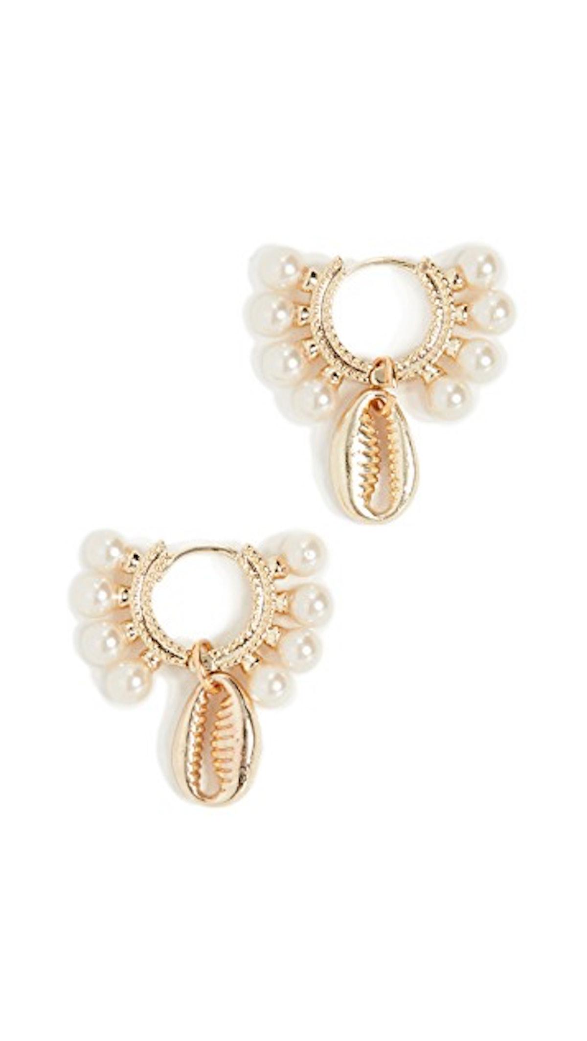 Shashi Lola Baltic Huggie Earrings