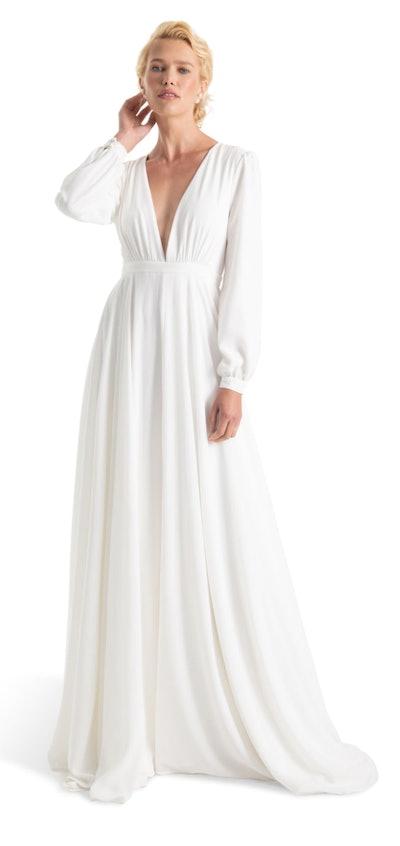 Floyd V-Neck Long Sleeve Gown