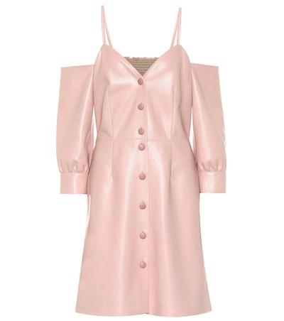 Shreya Faux Leather Dress