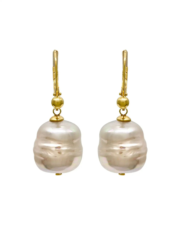 Majorica 12mm Baroque Pearl Drop Earrings