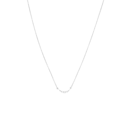 Crescent Necklace in Silver