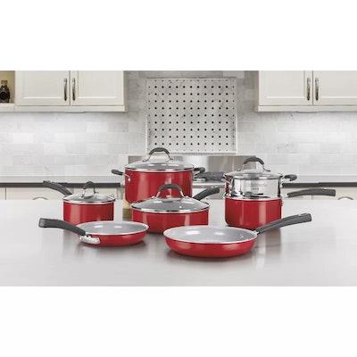 11-Piece Ceramic Nonstick Cookware Set