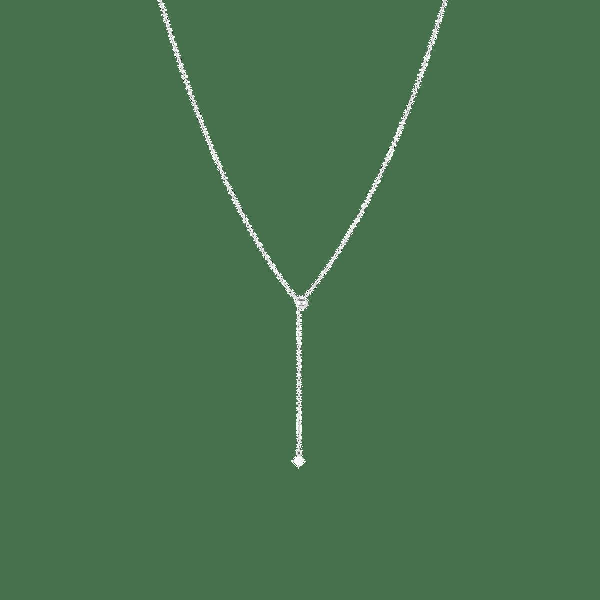 Lariat Slide Necklace Silver