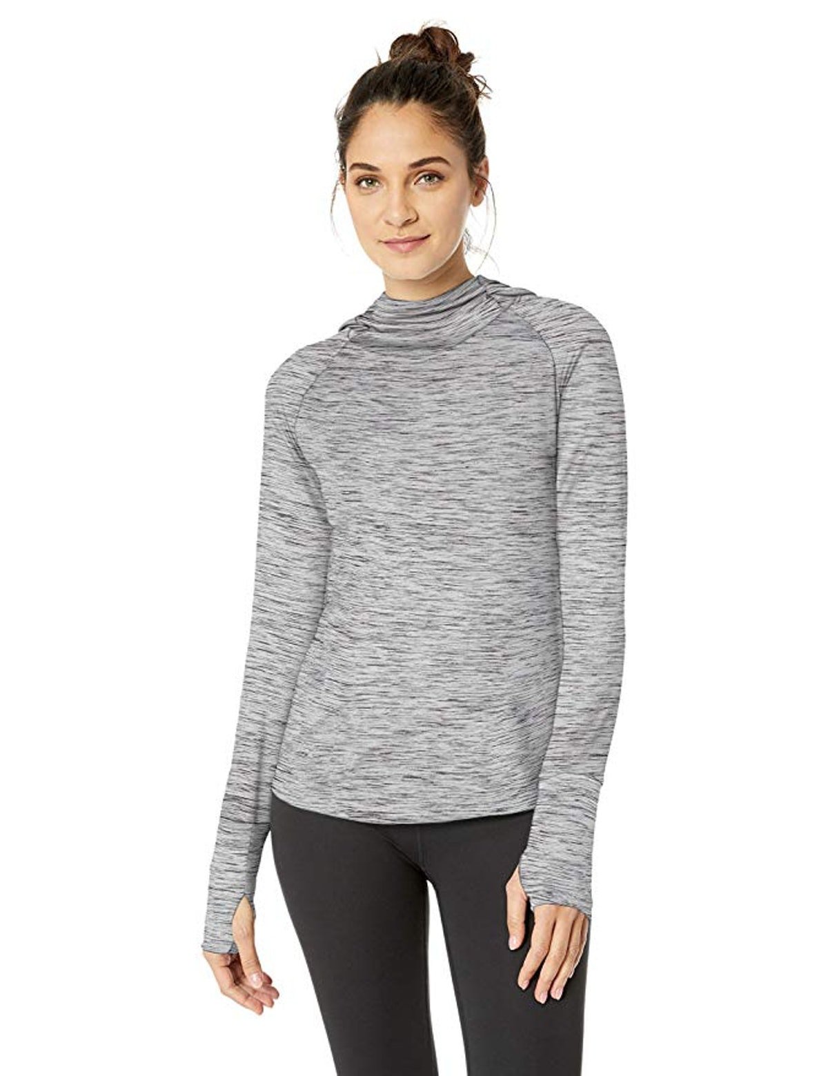 Core 10 Women's Cozy Fitted Workout Long Sleeve Hoodie