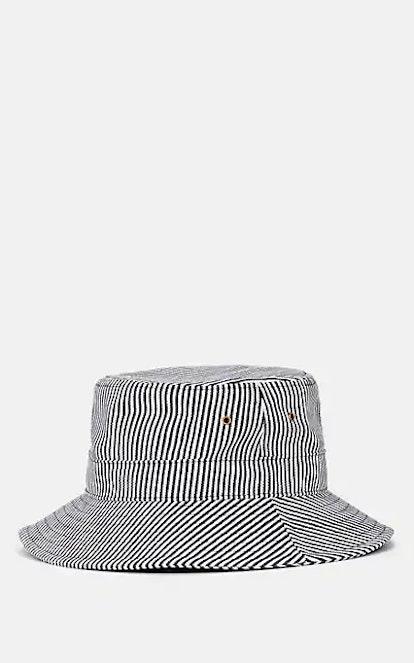 FIVESEVENTYFIVE Striped Cotton-Blend Twill Bucket Hat