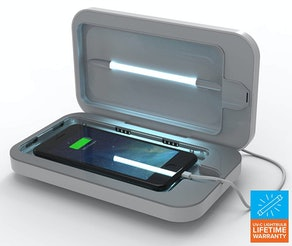 PhoneSoap 3 Cell Phone Sanitizer And Dual Universal Cell Phone Charger