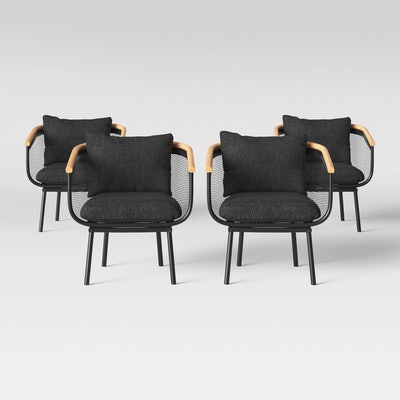 Bangor Patio Dining Chair Black - Project 62