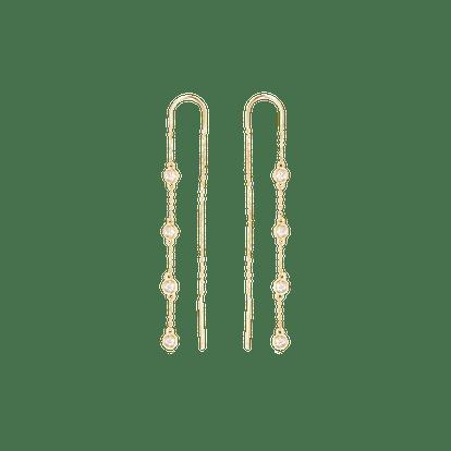 Sapphire Studded Threaders
