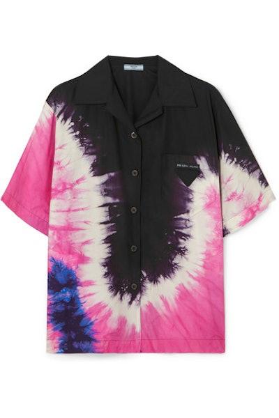 Prada Tie-Dyed Cotton-Poplin Shirt