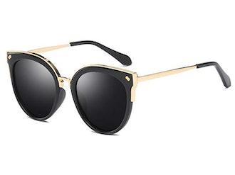 Bevi Women's Polarized Cat Eye Sunglasses