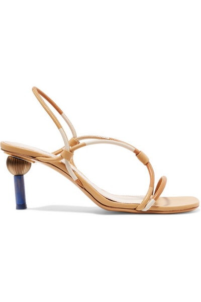 Jacquemus Olbia Leather Slingback Sandals