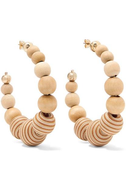 Rosantica Wooden Hoop Earrings