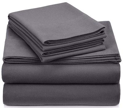 Pinzon Signature 190-Gram Heavyweight Velvet Flannel Sheet Set