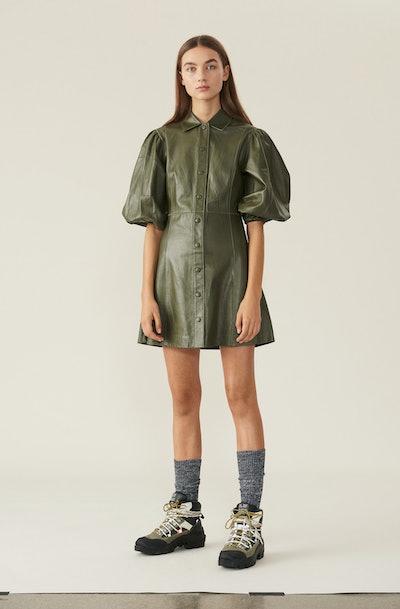 Lamb Leather Mini Dress
