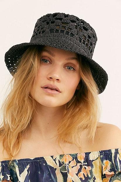Quinn Crochet Straw Bucket Hat