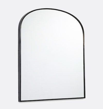 Arched Mantel Metal Framed Mirror in Oil-Rubbed Bronze
