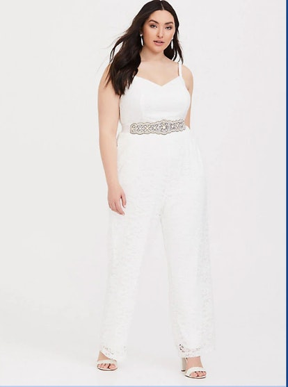 Special Occasion White Lace Jumpsuit