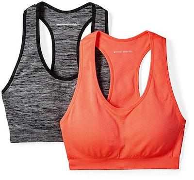Amazon Essentials Women's Light-Support Seamless Sports Bras (2 Pack)
