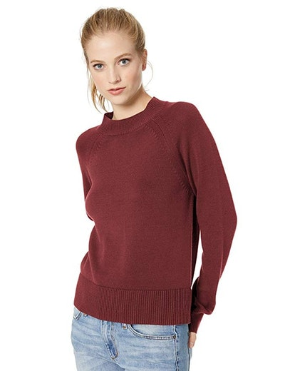 Daily Ritual Women's 100% Cotton Mock-Neck Sweater (XS-XXL)