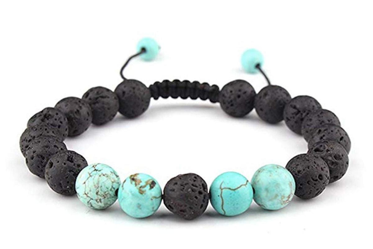 Celokiy Lava Rock Essential Oil Diffuser Bracelet