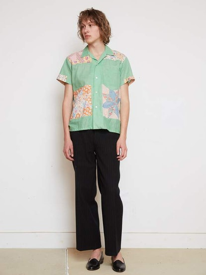 Summer Quilt Top Bowling Shirt