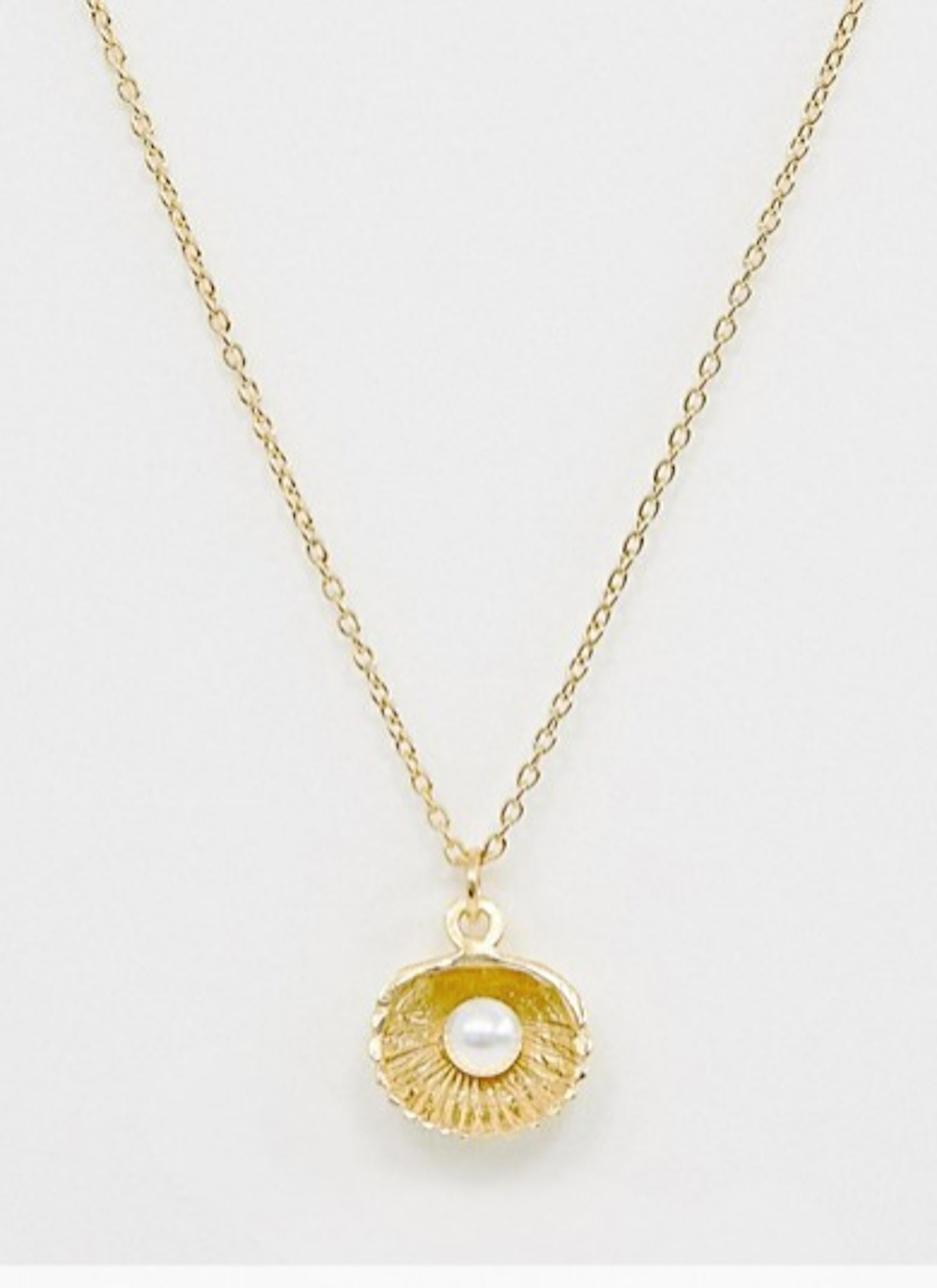 Necklace with Pearl and Shell