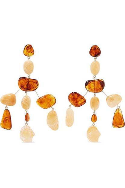 Cult Gaia Sloane Acrylic And Gold-Tone Earrings