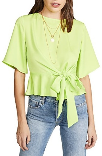 Neon Green Yellow Blouse