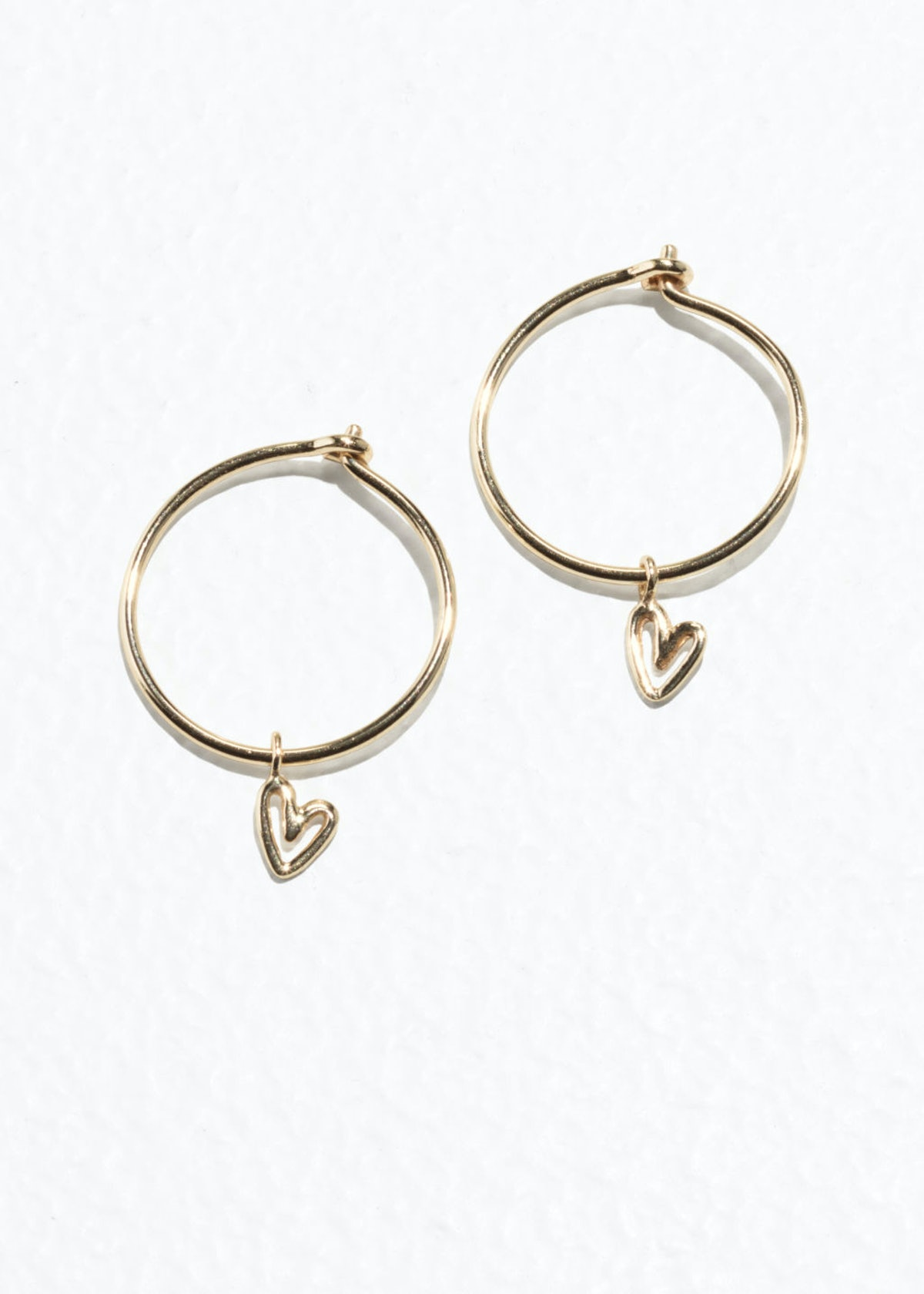 Gold-Plated Heart Mini Hoops
