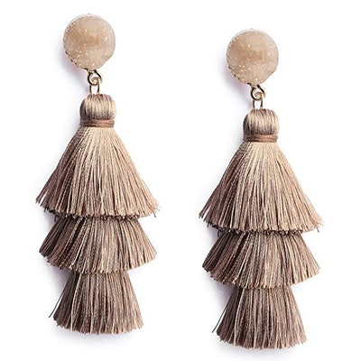 Me&Hz Colorful Layered Tassel Earrings