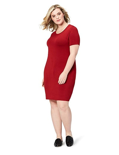 Daily Ritual Women's Plus Size Jersey T-Shirt Dress (1X-7X)