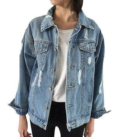 udyBridal Oversize Denim Jacket (S-L)
