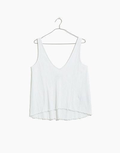 Ribbed Knit Pajama Tank Top
