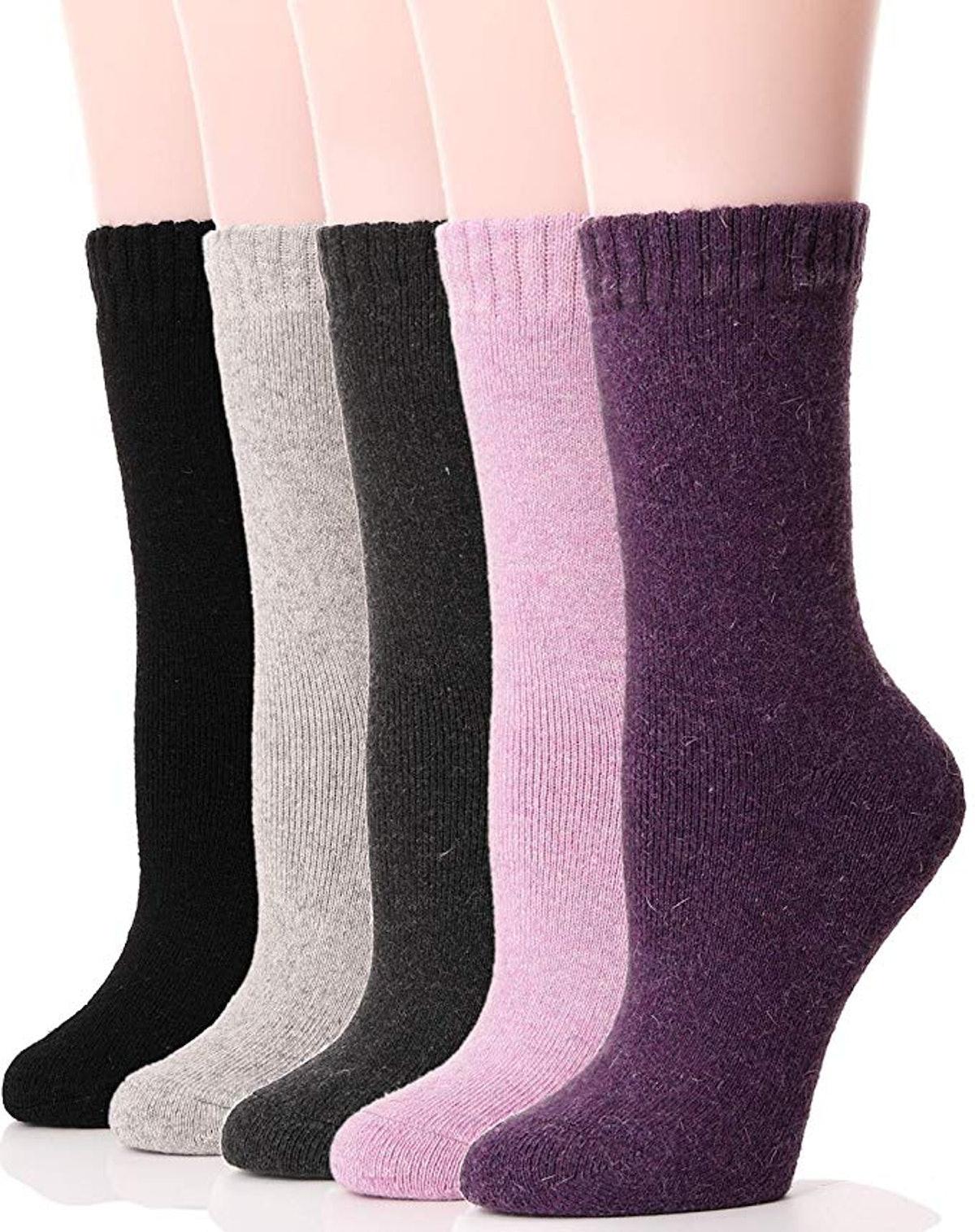 Ebmore Womens Wool Socks (5 Pack)