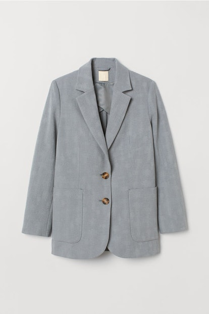 Linen-Blend Blazer