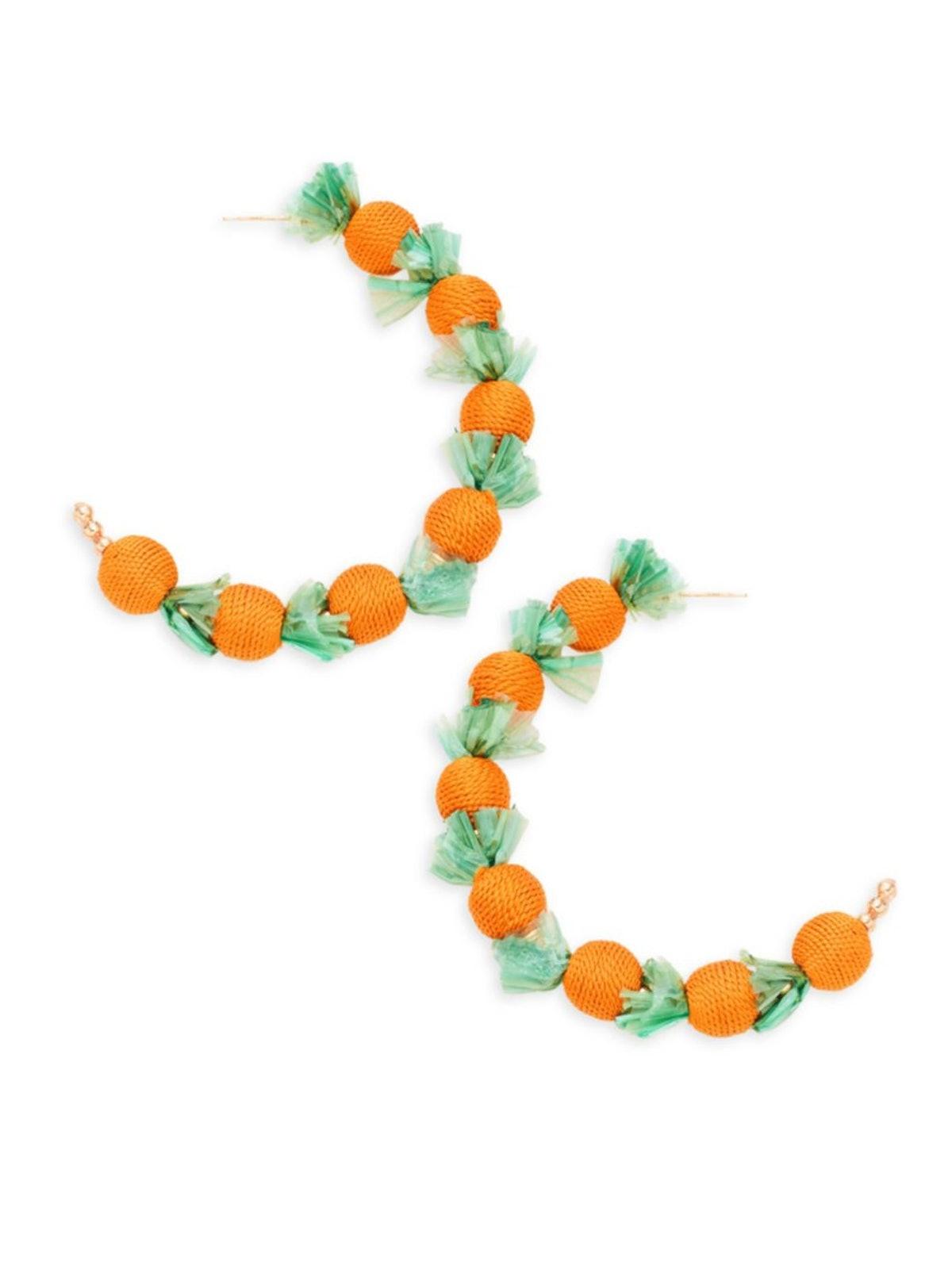 Kenneth Jay Lane Orange Hoop Earrings