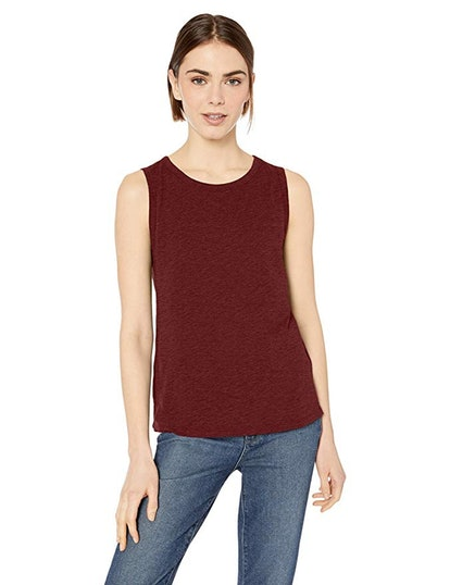 Daily Ritual Women's Lightweight Lived-In Cotton Crewneck Muscle T-Shirt