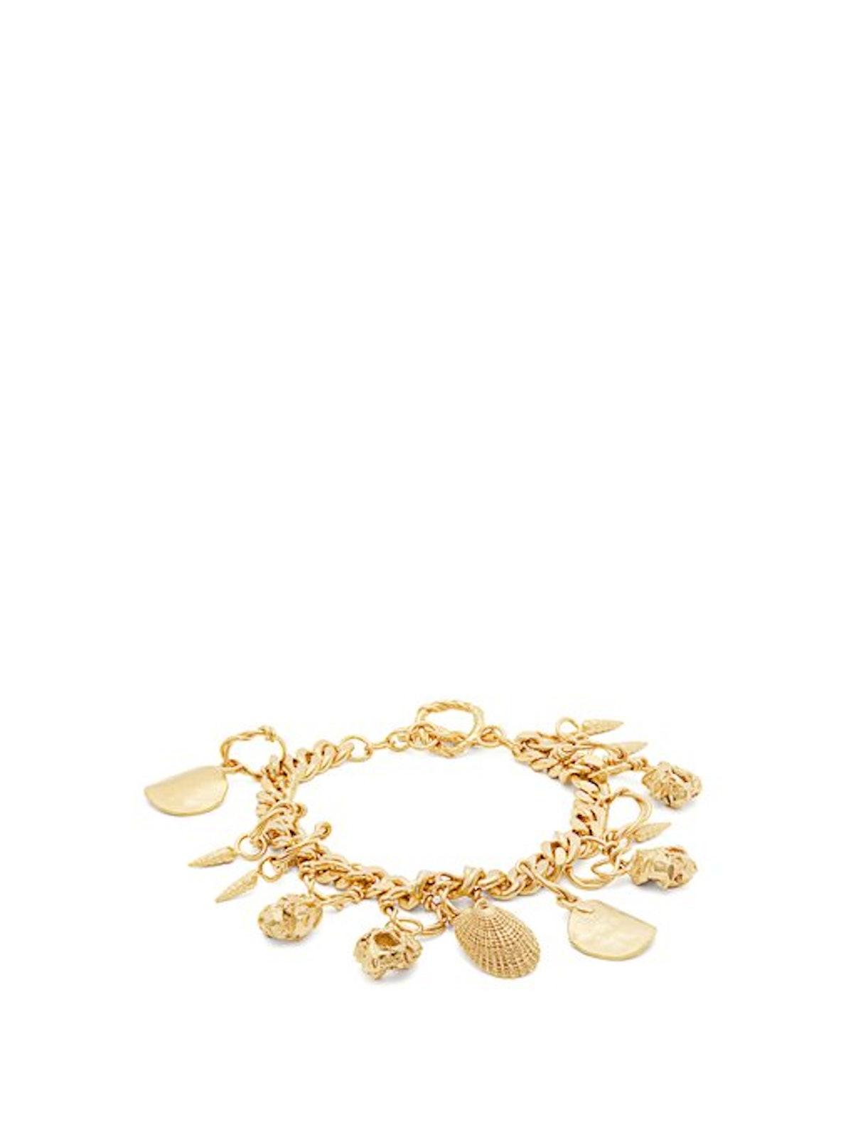 Orit Elhanati Katjushka Gold-Plated Charm Bracelet