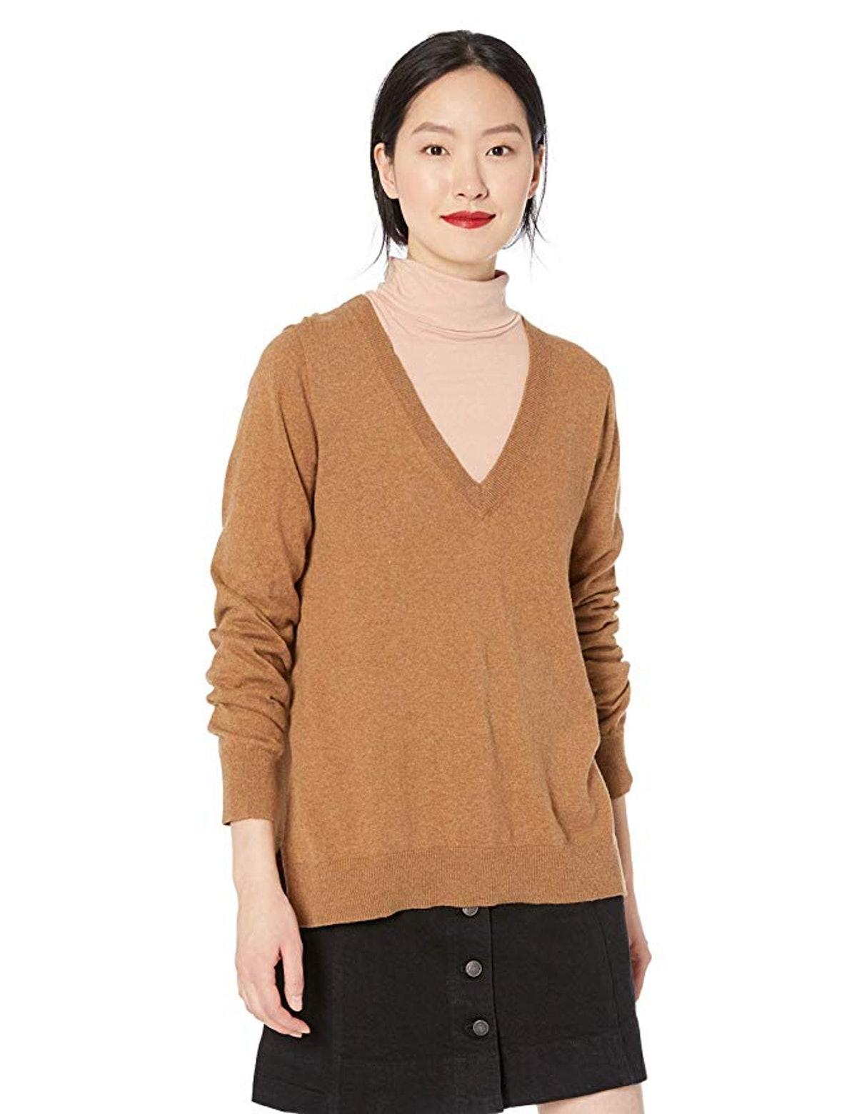 J.Crew Mercantile Women's Cotton V-Neck Sweater