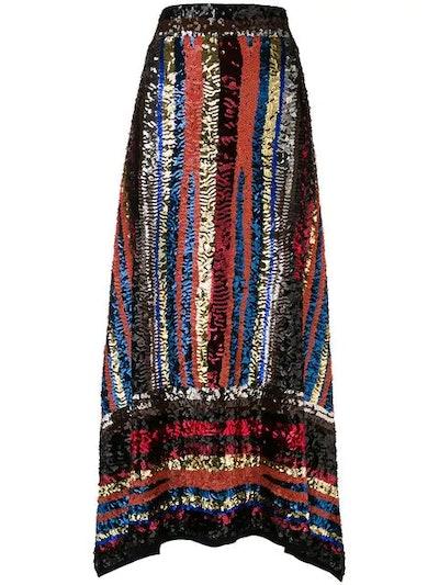 Handmade Multicolor Sequin Skirt