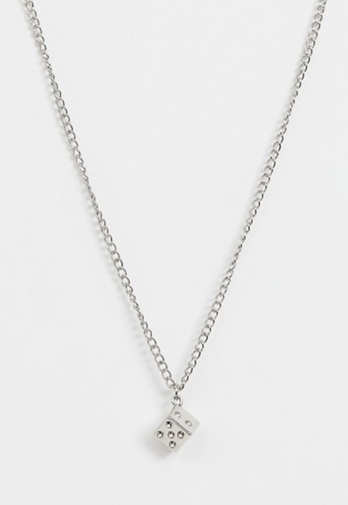 Asos Design Necklace with Dice Pendant