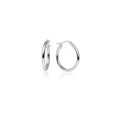 LOVVE Sterling Silver Click-Top Hoop Earrings