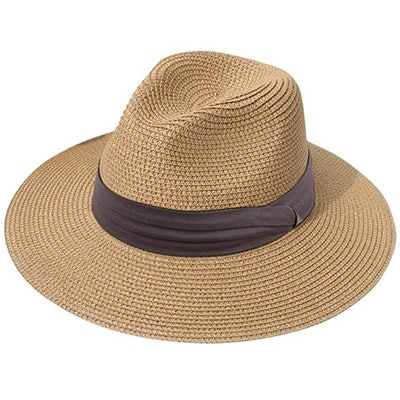Lanzom Wide Brim Straw Hat
