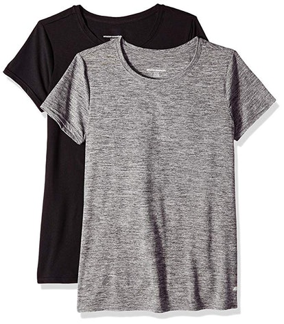 Amazon Essentials Women's Tech Stretch Short-Sleeve T-Shirts (2 Pack)