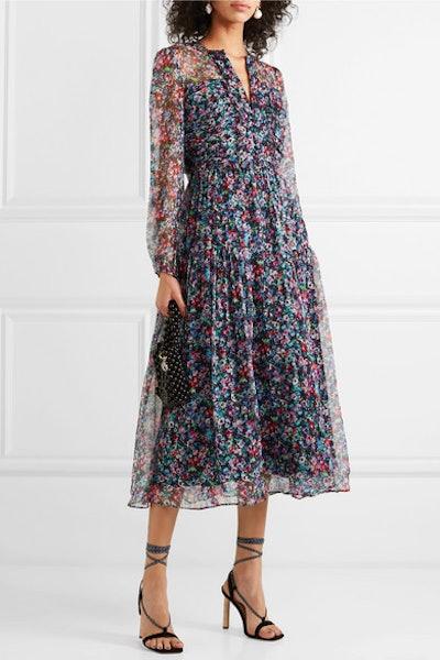 Yasmeen Floral-Print Silk-Chiffon Midi Dress