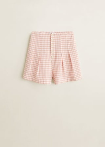 Buttoned Cotton Shorts