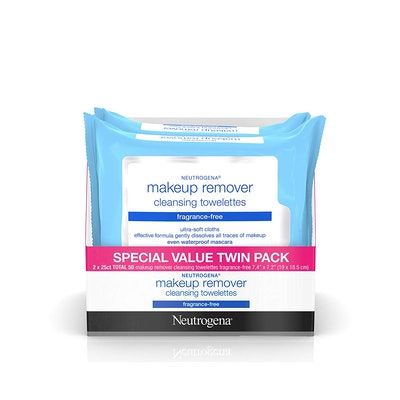 Neutrogena Cleansing Fragrance Free Makeup Remover Facial Wipes, 2 Packs