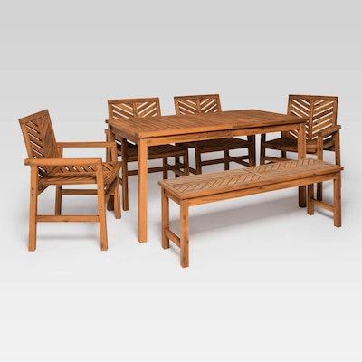 Saracina Home - 6pc Chevron Outdoor Patio Dining Set